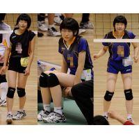 女子校バレーボール大会 07 青色ユニフォ