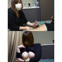 【アングル1】色気ムンムン巨乳人妻の手コキ