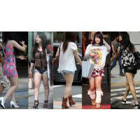 ナマ脚の女性達?
