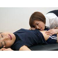 体操の後で〜綾子先生が里奈のへそを フル・ハイビジョン版