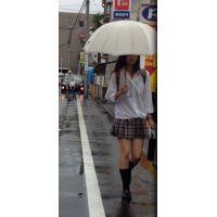 雨の日にJKたちを追っかける