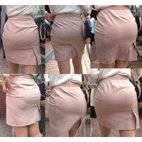ピチピチタイトスカート05_ムチムチピンクスーツ[フルHD]