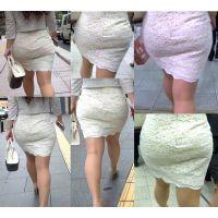 ピチピチタイトスカート06_薄々白タイトの巨尻お姉さん[フルHD]