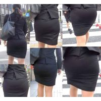 ピチピチタイトスカート04_ムチムチ黒スーツ[フルHD]