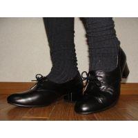 ヒール革靴002 レトロな感じの靴