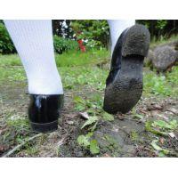 HARUTAのストラップ靴2_010 白ハイソで