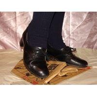 ヒール革靴019 レトロな感じの靴