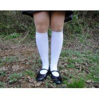 HARUTAのストラップ靴2_006 白ハイソで
