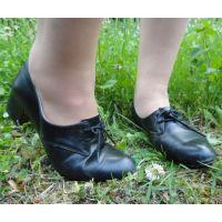 ヒール革靴016 レトロな感じの靴
