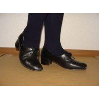 ヒール革靴006 レトロな感じの靴