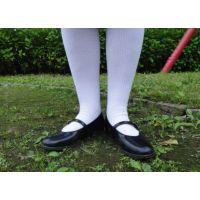 HARUTAのストラップ靴2_011 白ハイソで