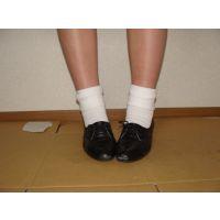 ヒール革靴007 レトロな感じの靴