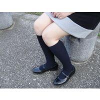 HARUTAのストラップ靴2_008 紺ハイソで
