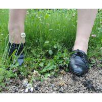 ヒール革靴015 レトロな感じの靴