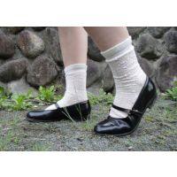 HARUTAのストラップ靴2_009 短めキラキラソックスで