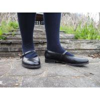 HARUTAのストラップ靴2_004 紺ハイソで
