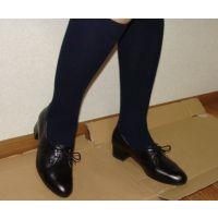 ヒール革靴001 レトロな感じの靴