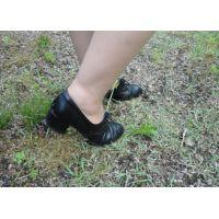 ヒール革靴013 レトロな感じの靴