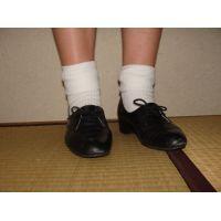 ヒール革靴004 レトロな感じの靴