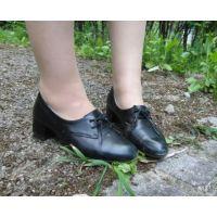 ヒール革靴014 レトロな感じの靴