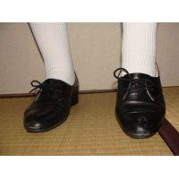 ヒール革靴003 レトロな感じの靴