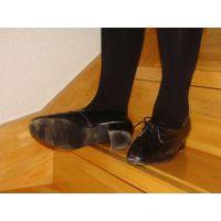 ヒール革靴011 レトロな感じの靴