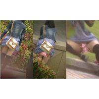公園でセクシー6 〜動画〜 ひらひらミニスカ短すぎなのに生パン女子