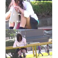 放課後に公園で遊ぶミニスカの女の子〜動画〜