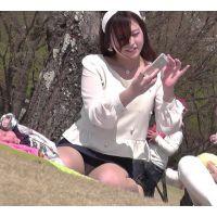 お花見正座で見えっぱなし〜動画〜PART2