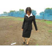 屋外泥んこMESSY4(黒3ボタンリクルートスーツ)