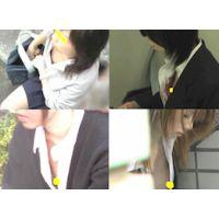 【チラリズム】制服姿で乳首チラ Vol.5