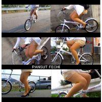 四十路のミニスカパンスト自転車 part12