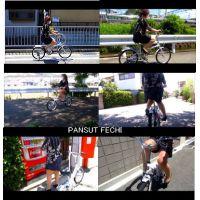 四十路のミニスカパンスト自転車 part1
