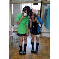 【制服チラ】おバカちゃんの学校ハプニング