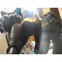 美形極上ギャル達のタイツ美脚を超ローアングルで撮影しちゃった!