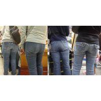 街撮りママさんたちのジーンズ美巨尻詰め合わせ