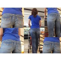 【買い物主婦】ママの一日の家事の汗と香りが染み込んだジーンズ