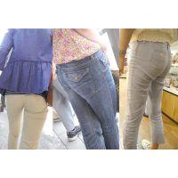 美巨尻にパンツやジーンズを喰い込ませるキレイなママさんたち...