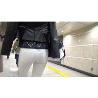【高画質】女子大生白レギパン