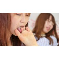 LSN-026 今日初めて女の子同士で足裏舐め合い 【佐緒里→RANA編】