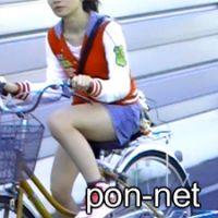 自転車で見えちゃったデニミニでちらり2 (JD)