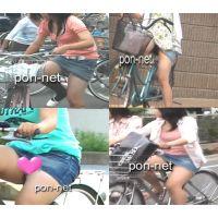 【追跡】自転車で見えちゃったデニミニ娘����セット
