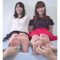 JAGA's 足裏くすぐり男優オーディション ≪2人並んだ女子を3人がくすぐる≫