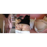 [357]熟女の白い美しいお尻と肛門