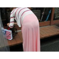 [744]最高!黒いパンティ透け透けのマキシワンピのお姉さん