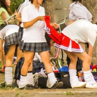 【チアJK】 高校野球 de 女子高生 〜紅3★続・脱ぎ脱ぎ生着替え〜