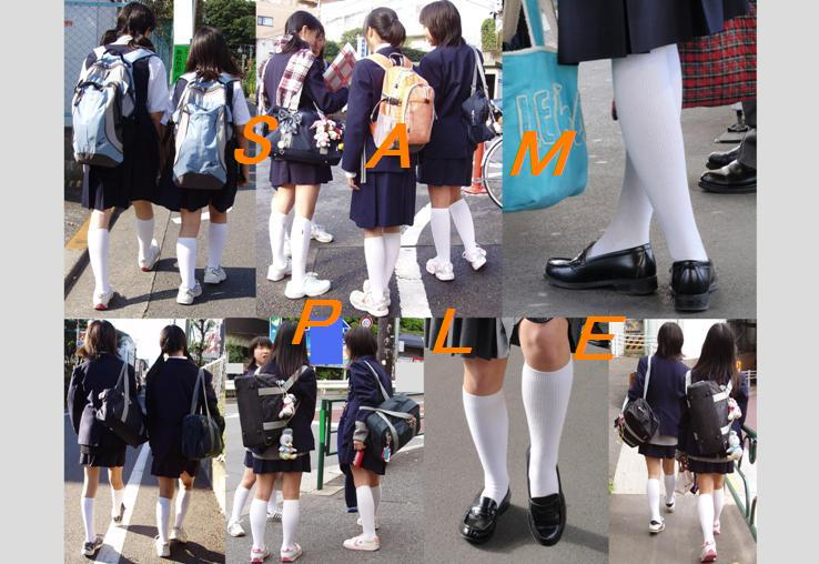 school girl wearing white socks(No.4)