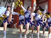 [PJV06c] 第1回 京〇マラソン 今宮神社 伝説のチア ウサギちゃん 2012 (3/3) 紫アンスコでハイキック