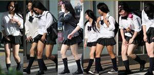 制服のムッチリナマ脚フロント編②
