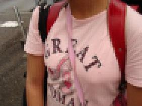 下校途中の巨乳●学生